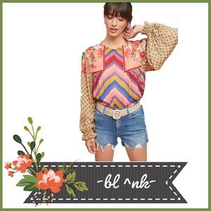 NWT Anthropologie Boho Eclectic Peasant Blouse